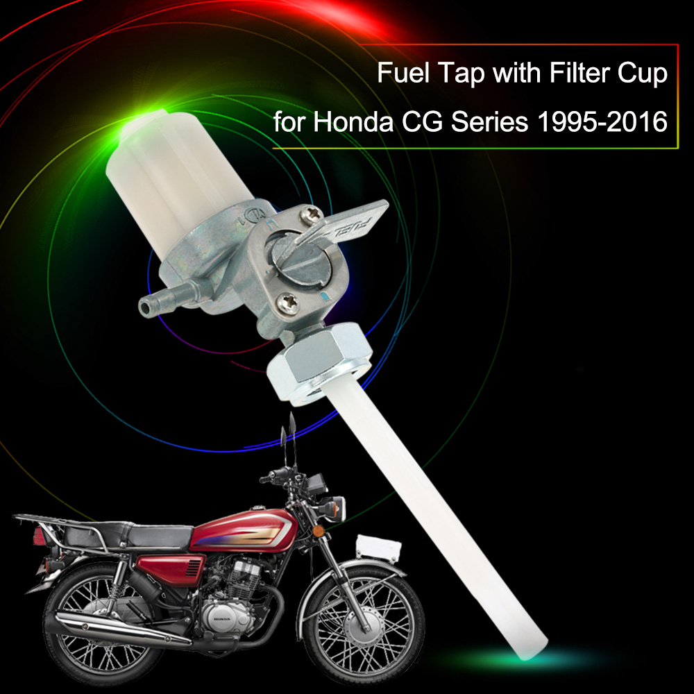Motorcycle Fuel Tap Switch Petcock with Filter Cup for Honda CG Series 1995-2016(China (Mainland))