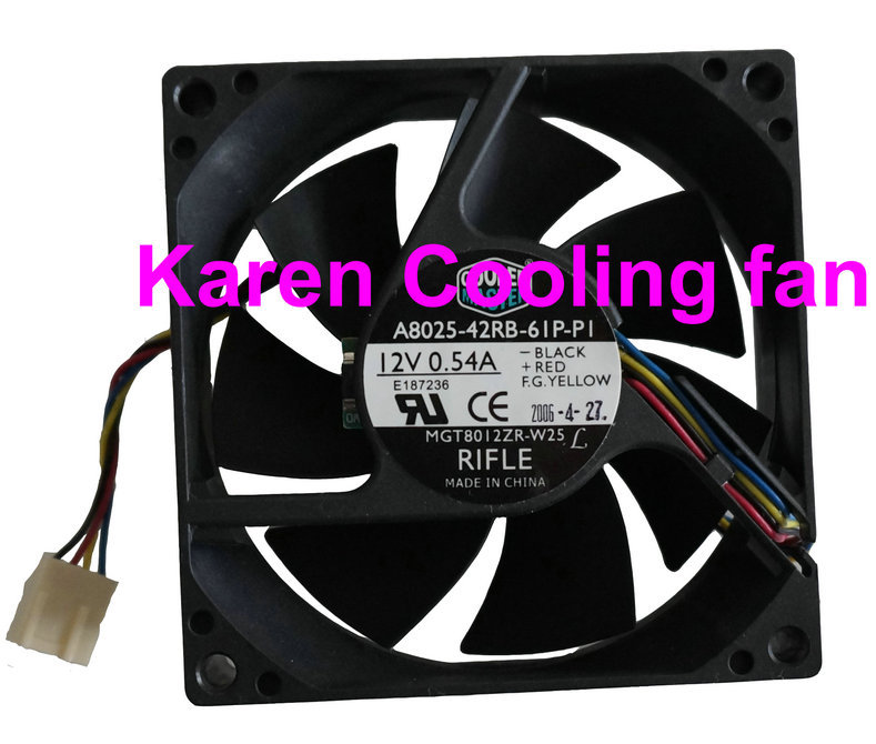 100%New A8025-42RB-61P-P1 Server Square Fan 80x80x25mm 4-wire Cooling Fan 8025 12v 0.54a<br><br>Aliexpress