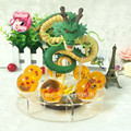 Dragon Ball Z Shenron Shenlong PVC Action Figures Toys Golden Green Dragon 7Pcs Dragonball Z Crystal