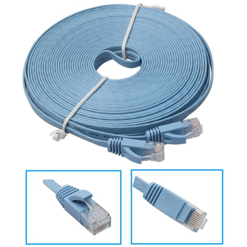 SimpleStone 2M/10M/15M Flat Ethernet CAT6 Network Cable Patch Lead for Smart TV/PS4/Xbox Wholesale May25(China (Mainland))