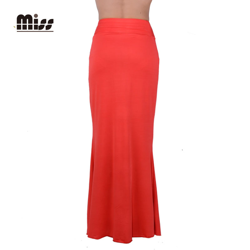 miss fashion mermaid maxi pencil skirt elastic