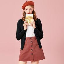 Suéter cárdigan de punto de SEMIR para mujer 2019 primavera Simple liso recto ropa suéter moda Cárdigan para mujer(China)