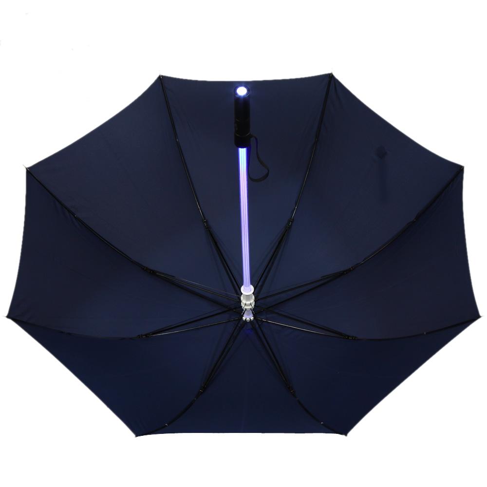 "Novelty Straight Pole Light LED Rain Umbrella 23"" 3 Modes Long Handle Torch Flashlight AAA Battery Night Walking Protection(China (Mainland))"