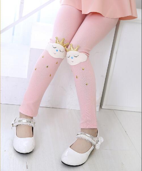Hot selling 2015 Spring flower girl pants baby girl leggings kids cotton fashion legging children autumn pant(China (Mainland))