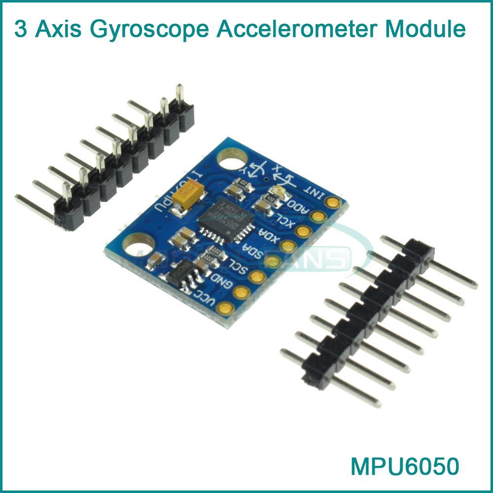 Гаджет  MPU 6050 3 Axis gyroscope acce lerometer module 3V 5V compatible  For Ar None Электронные компоненты и материалы