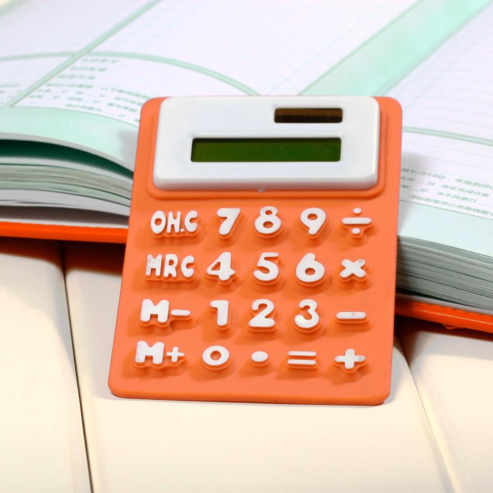 Soft keyboard Portable Foldable Silicone Calculator Solar Power Small Slim Pocket Calculator(China (Mainland))