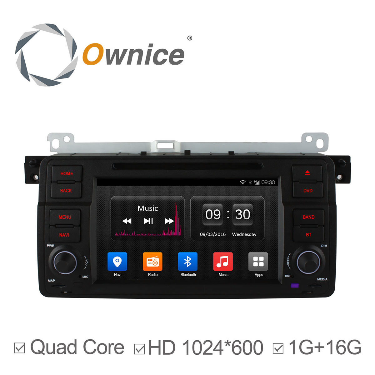 """Original UI 4 Core Android 4.4 7"""" 1024*600 Car DVD Player For BMW/E46/M3/MG/ZT/3 Series Rover 75 Support DAB+ GPS Radio DVR(China (Mainland))"""