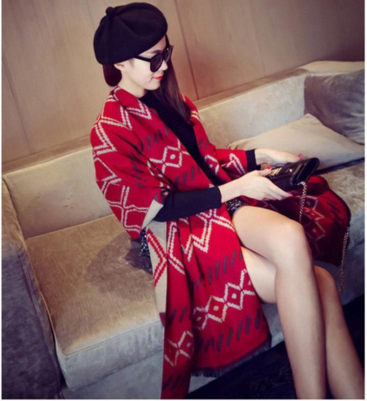 2016 Newest Designer New Brand geometry Scarf Women Winter Scarf Elegant Warm Bufandas Cape Poncho Fashion Pashmina Shawls(China (Mainland))