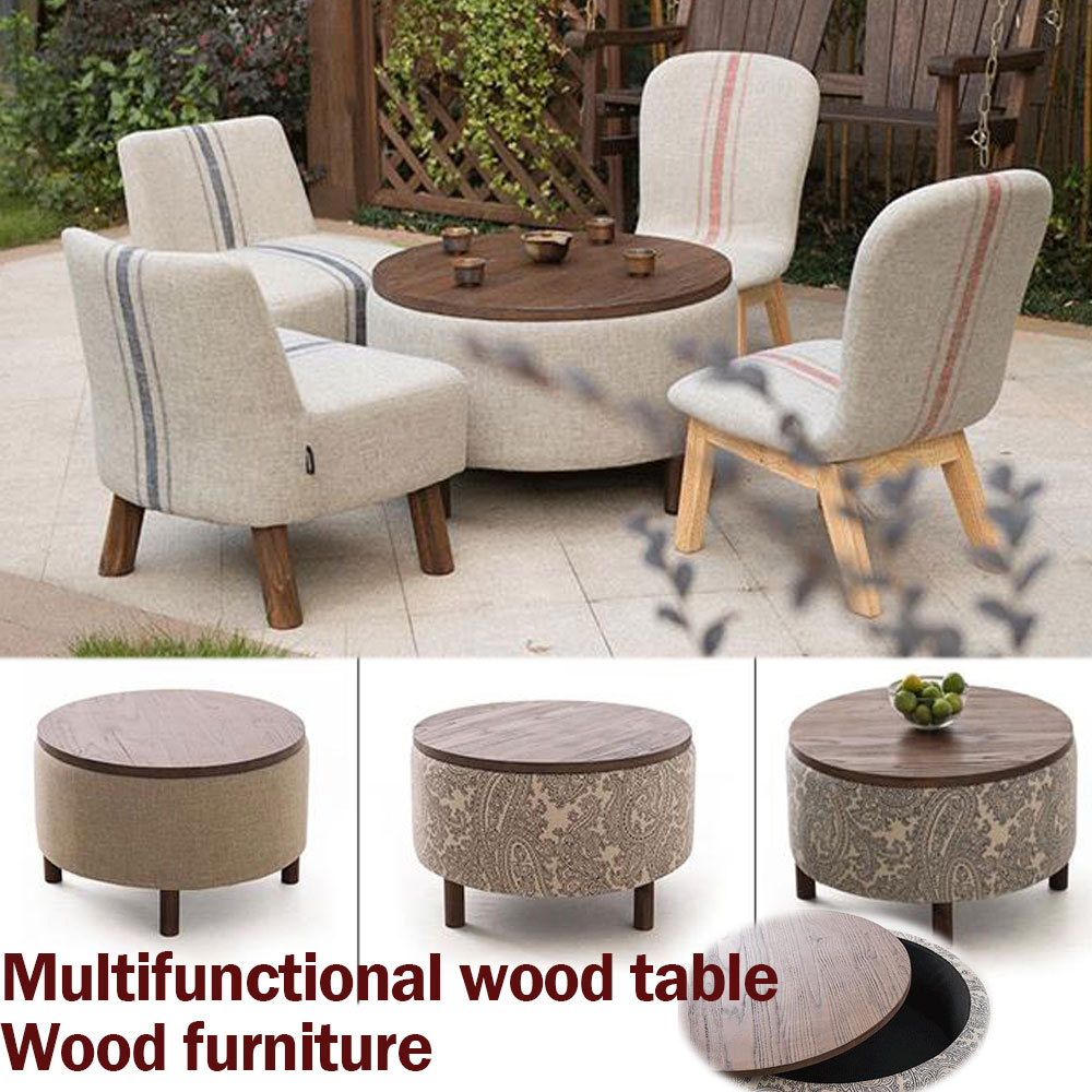 Buy 100 Wood Coffice Table Pure Cotton Cloth Rustic Wood Furniture Tea Table