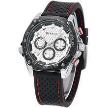 CURREN brand design 2016 new fashion casual rubber sport man clock military army business wrist quartz male luxury gift watch