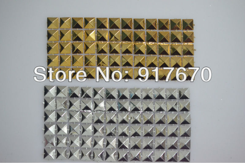 12rows plastic trimming gold silver mesh banding, pyramid trim sewing accessories roll for decorative shoppingbag cloth applique(China (Mainland))