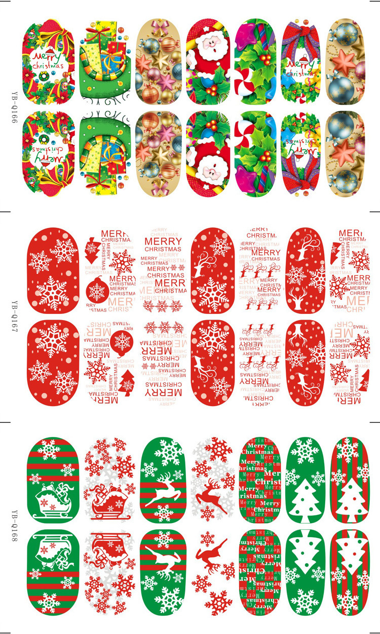 Nail art decals christmas