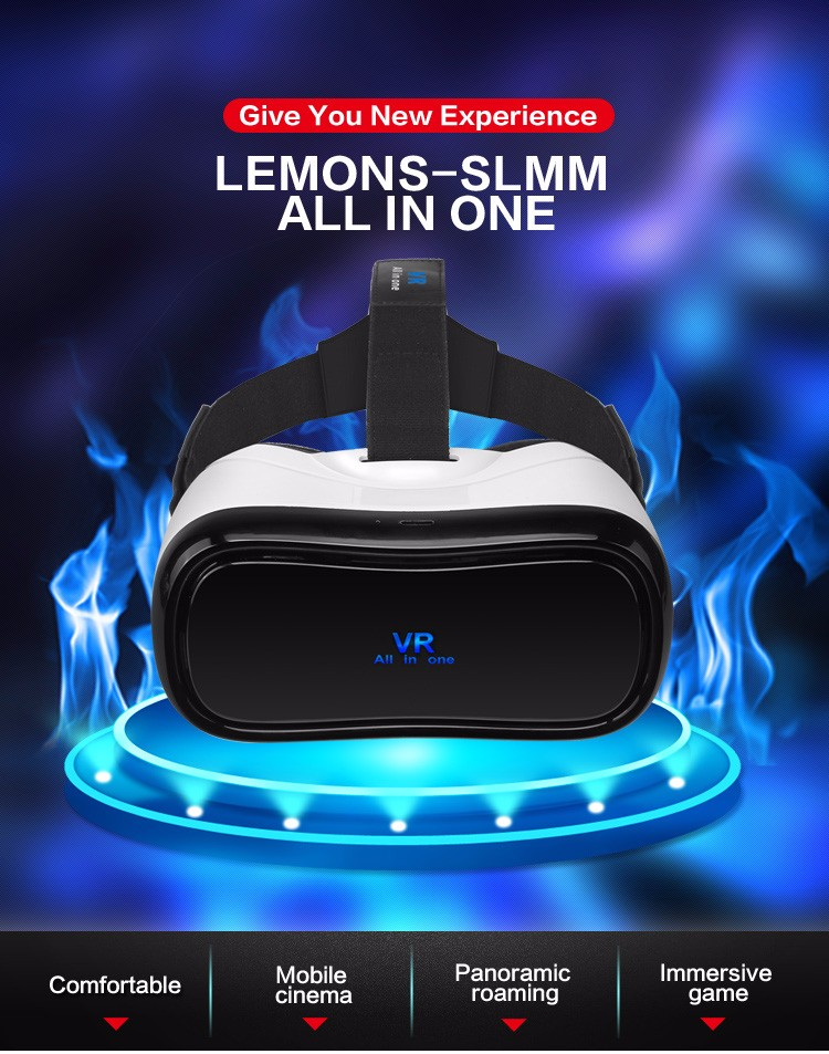 VR box all in one 360 degrees Overall view virtual reality 3D glasses RK3288 2G+16G bluetooth 4.0 headset no need smartphone