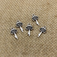 Buy PULCHRITUDE 80pcs 11*21mm Antique silver Color Vintage Metal Alloy lovely mini Hollow owl Keys Charms Jewelry Pendant Making for $4.17 in AliExpress store