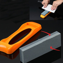 Non-slip dual knife sharpener grindstone double side diamond ceramic knife sharpening stone whetstone kitchen knife grinding(China (Mainland))