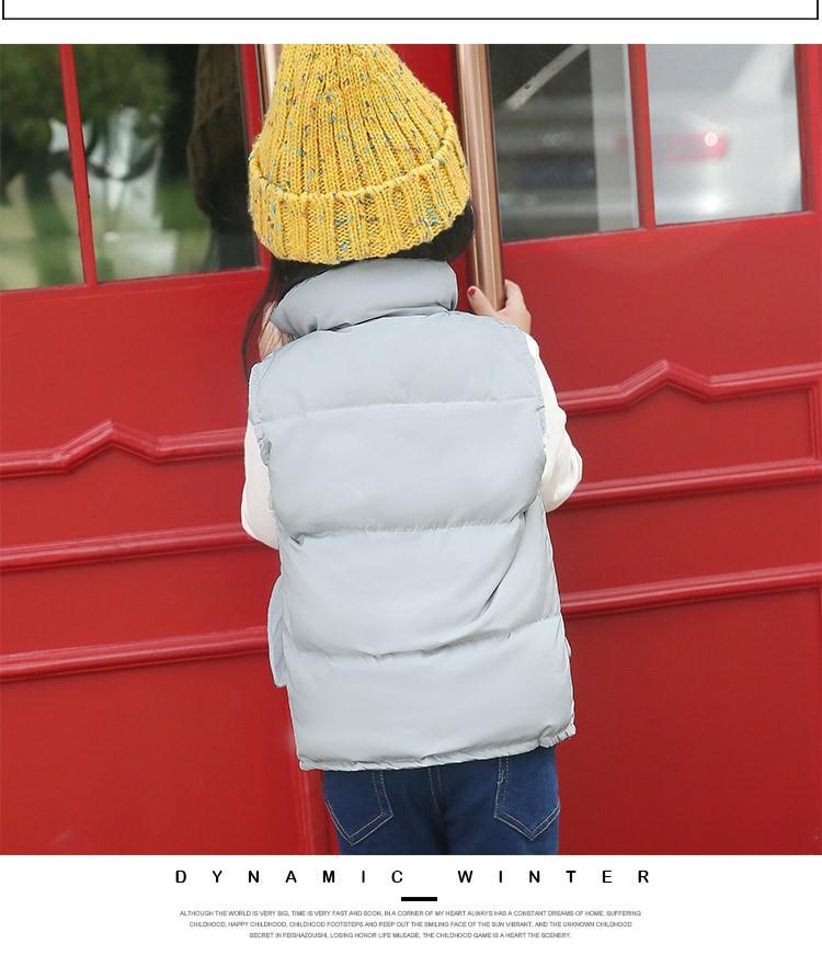 Скидки на 2016 Новая Мода Осень Зима детские Жилет Девочек Короткие Твердые Вниз Пальто Жилет 4 Цвета 4-10летних