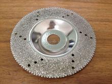 Envío gratis 100 * 16 mm galvanizado diamante muela copa han largo molienda vida para el granito y el afilar mármol etc
