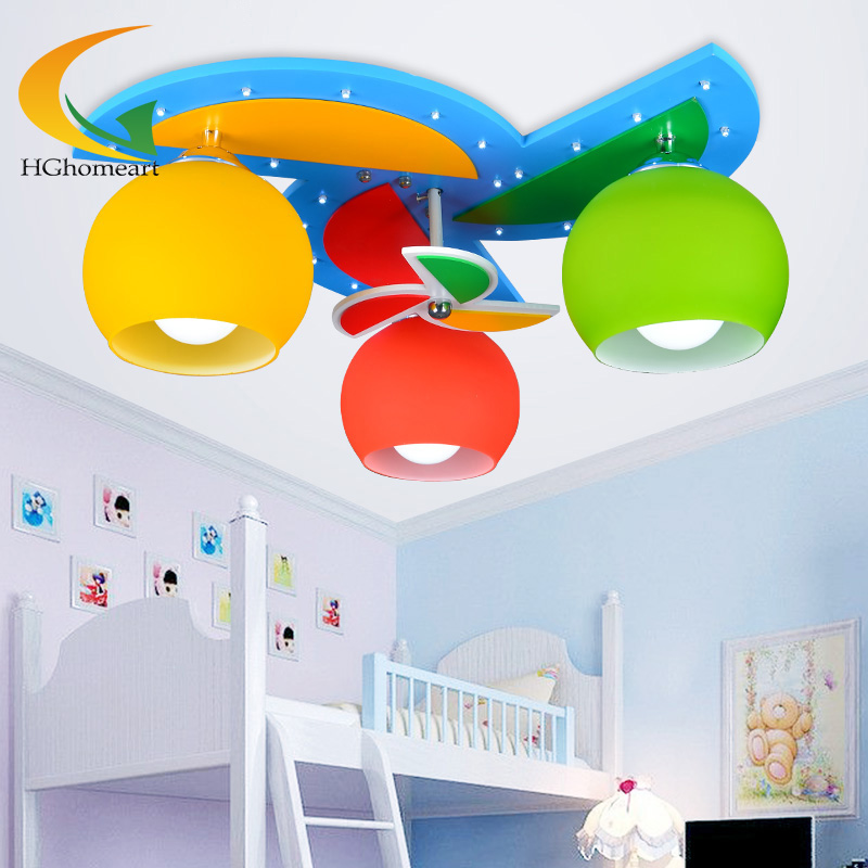 Ceiling lights with 3 heads for baby boy girl kids for Lights for kids room