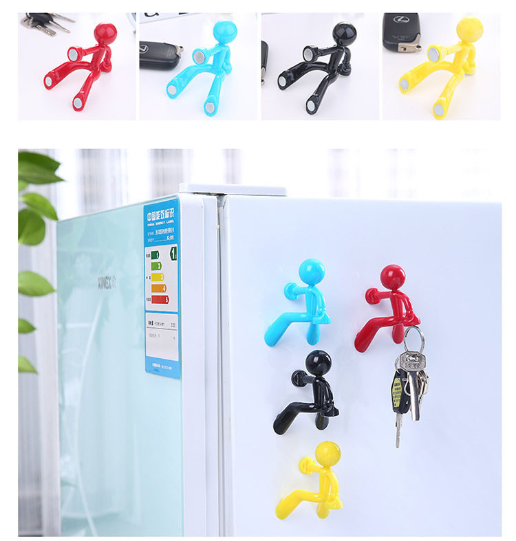 Random Color Human Partern Key Keeper Fridge Magnet Souvenir Ornaments Magnetic Kids Wall Letters Stickers