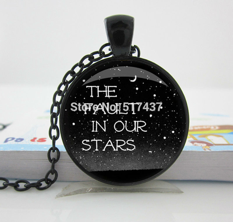 The Fault in Our Stars - John Green - Book Quote Charm Necklace - Reader Gift - TFIOS,Fashion Necklaces For Women 2014(China (Mainland))