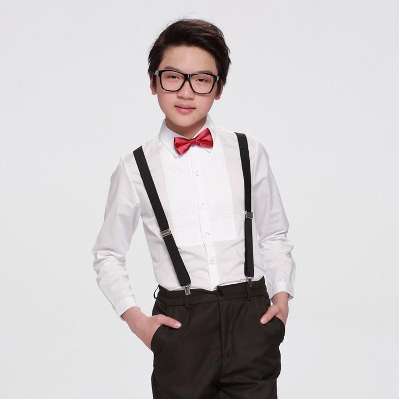 New Boys Dress Shirts Boys Shirt White Full Sleeve Chemise Garcon Boys Shirts 6BL120(China (Mainland))