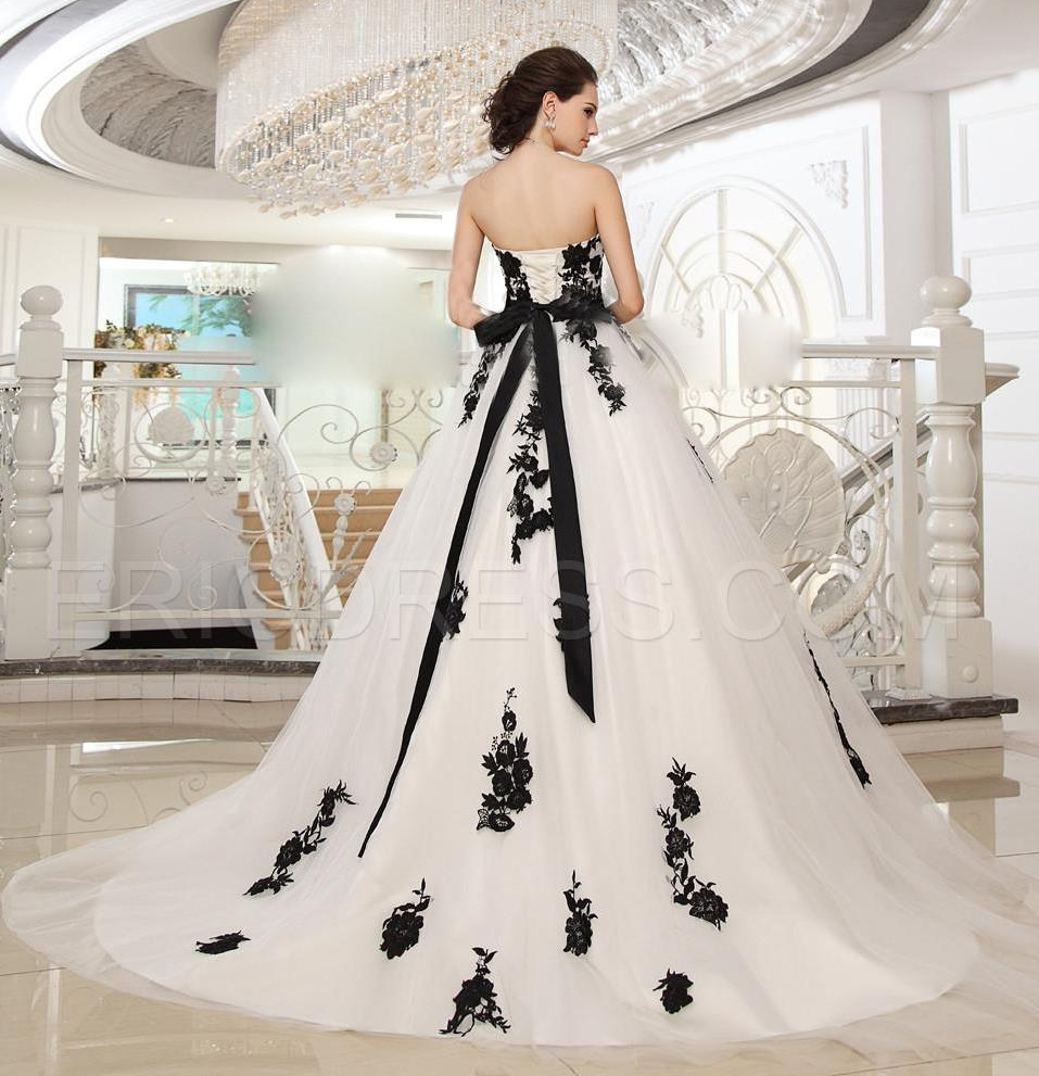 Black N White Wedding Dresses : Wedding dress plus size black white dresses and