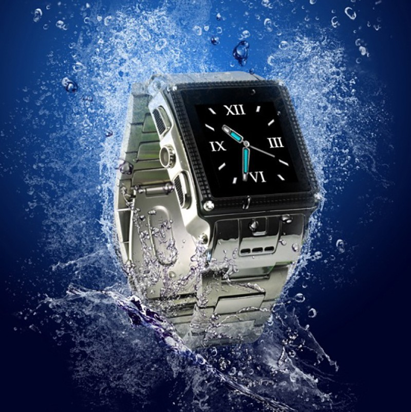 Luxury Quad band GSM smart watch W818 high quality Professional Waterproof lastest wrist watch cell phone(China (Mainland))
