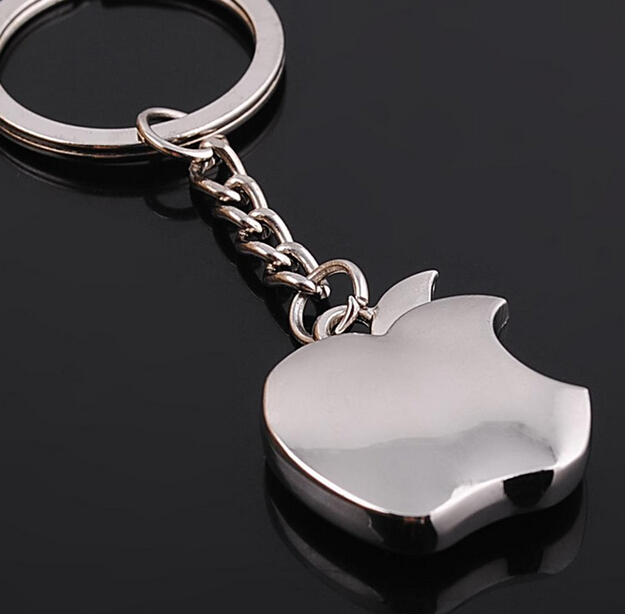 High Quality Novelty Souvenir Metal Apple Key Chain Creative Gifts Apple Keychain Cute Trinket Gift(China (Mainland))