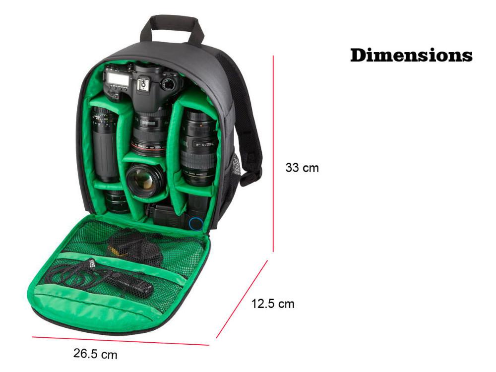 ถูก ใหม่แบบDSLRกระเป๋ากล้องกระเป๋าเป้สะพายหลังวิดีโอภาพกระเป๋าสำหรับกล้องd3200 d3100 d5200 d7100ขนาดเล็กกะทัดรัดกล้องกระเป๋าเป้สะพายหลัง