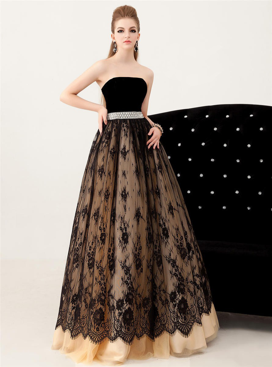 elegant black lace dresses - photo #39