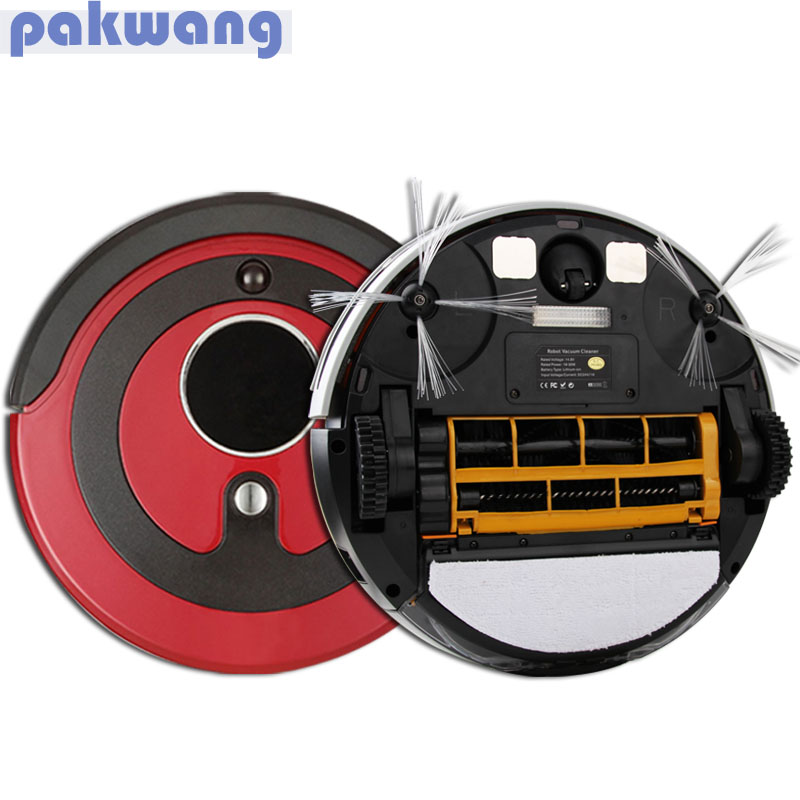 Pakwang robotic vacuum cleaner for home A380 (D6601) 0.8L dustbin Remote control Auto charge Intelligent Robot Vacuum Cleaner(China (Mainland))