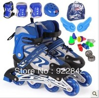 Children Skating Shoes Child Set Full Flash Kick Scooters Foot Scooters Adjustable Size ( 3 to 16 Years Old )