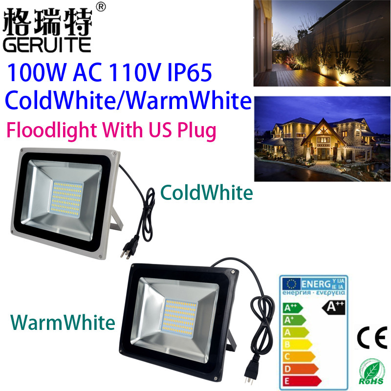 Led Flood light outdoor Lights 100W 110V 5600LM 189LED SMD 5730 IP65 Floodlights For street Highway Wall billboard With Plug(China (Mainland))