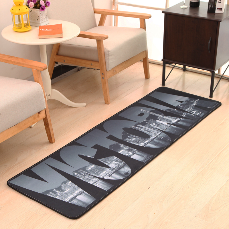 Personality Trend Door Mat 50x160CM Kitchen And Bathroom Carpet Machine Washable Blending Waterproof/Anti-Slip Floor Kitchen Mat(China (Mainland))