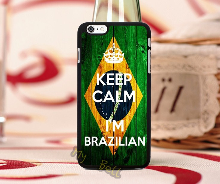 keep calm i arm brazilian hard PC Phone Case for iphone 4s 5c 5s 6 6plus with free giffs(China (Mainland))
