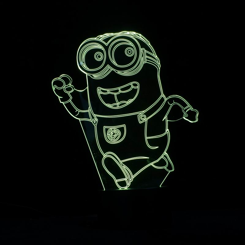 Lovely Cartoon Images 3D LED Night Light for Children Bedroom Decorative(China (Mainland))