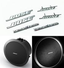 4Pcs/lot For Bose Creative Sticker Hi-Fi Speaker Audio Speaker 3D Aluminum Badge Emblem Stereo With Sticker / Pins Universal Fit(China (Mainland))