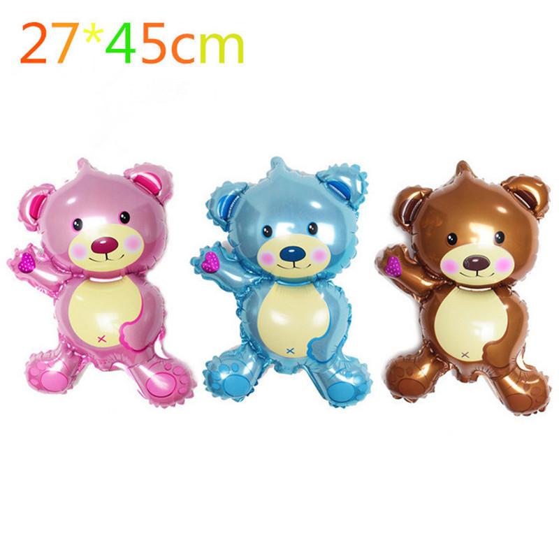 Free shipping new mini Bear Teddy Bear foil balloon aluminum balloons birthday party decoration balloon wholesale baby(China (Mainland))