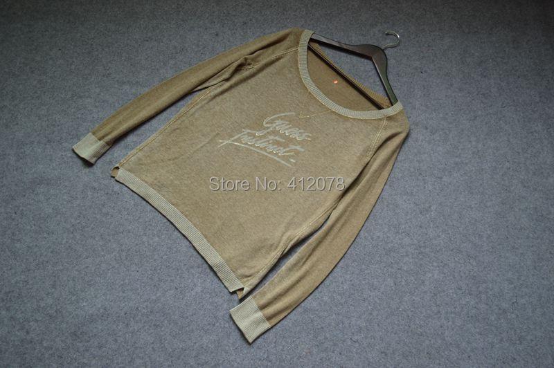 original Тонкий spring Autumn О-образным вырезом vintage print Вязанаяwear Three Цветs