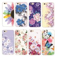 2015 новое поступление мода романтический цветок Colorfull росписью твердый переплет чехол для Apple , iPhone 6 6 S 1 шт. бесплатная доставка
