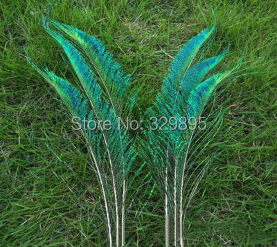 Beautiful! 20pcs 12-14 inches / 30-35cm Natural Peacock Feather Sword Symmetrical For Wedding Decoration(China (Mainland))