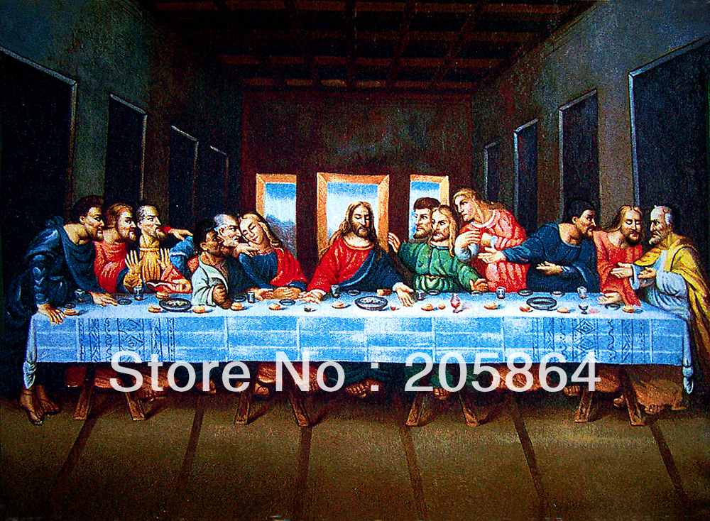 Free shipping gobelin tapestries,last supper, religions decoration picture(China (Mainland))