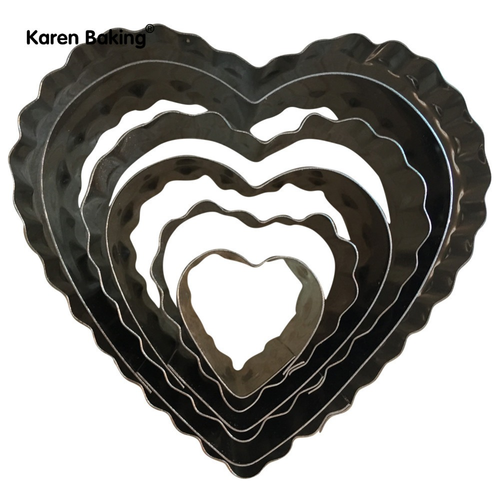 6PCS Sizes of different shapes of love Double cut stainless steel biscuits Cut-out cakes Decorated candy Mold cut Soap cut A376(China (Mainland))
