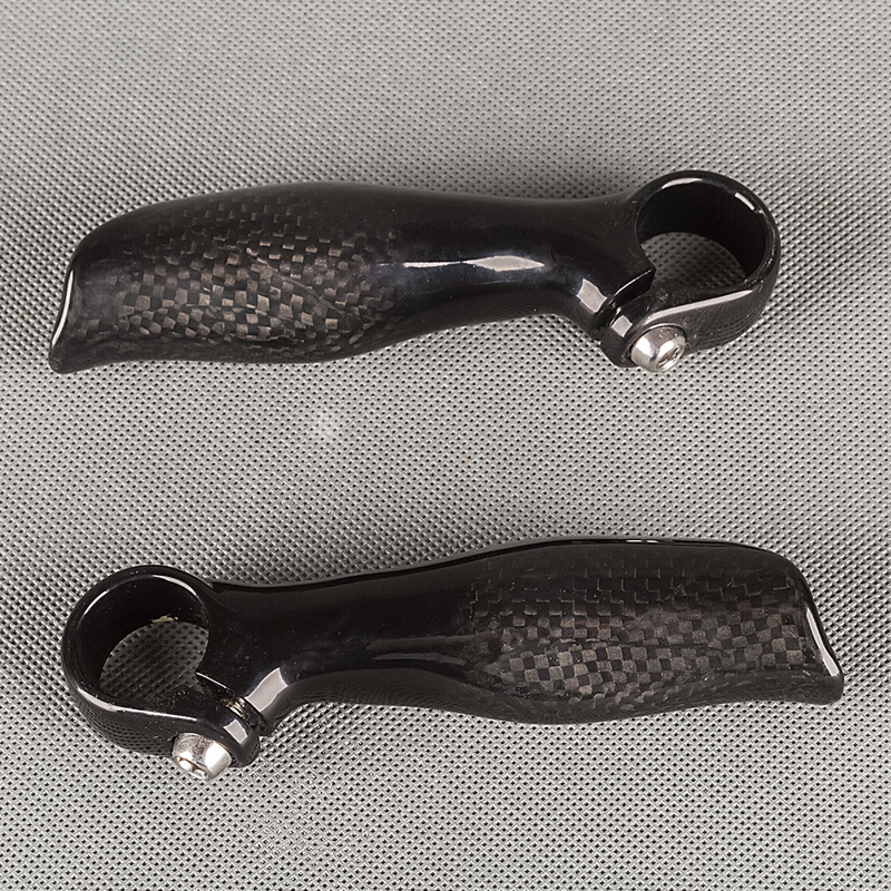NO LOGO 3K Glossy carbon fiber bar end MTB mountain bike handlebar bar ends Bicycle Parts small auxiliary handlebar(China (Mainland))
