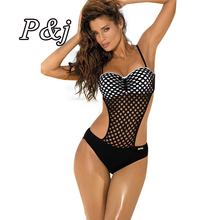 Buy P&j 2017 One Piece Swimsuit Sexy Swimwear Women Bathing Suit Swim Vintage Summer Beach Wear Print Bandage Monokini Swimsuit for $11.95 in AliExpress store