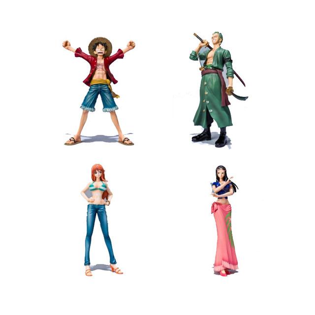One Piece Пвх Фигурку Игрушки Без Коробки Цвета 16 см Луффи Робин зоро Nami ПВХ Рис Игрушки Куклы Модель Для Подарков F0532