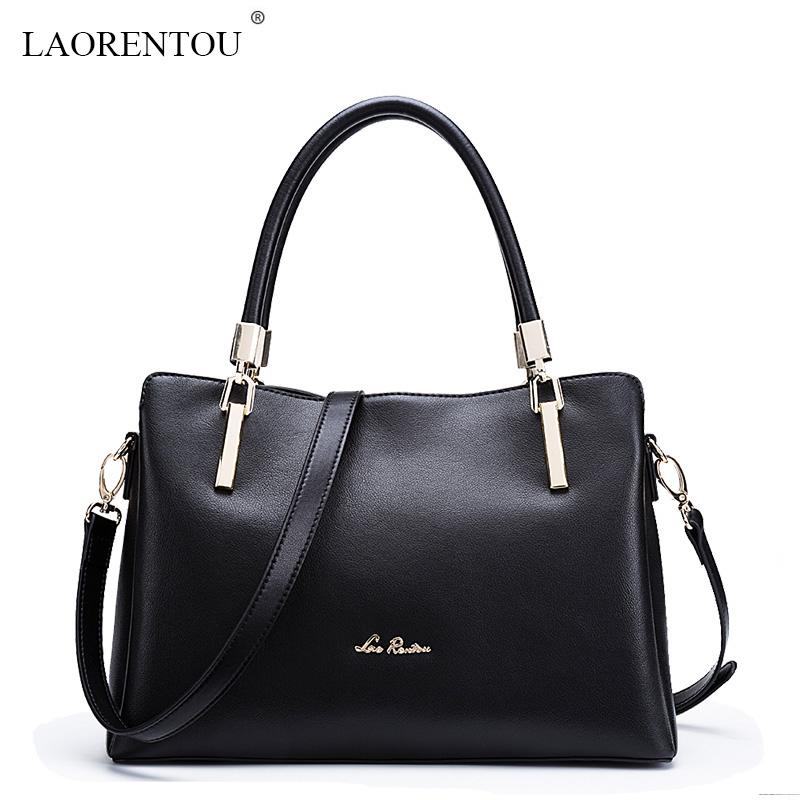 Фотография LAORENTOU Famous Brands 2016 new leather women handbag lady elegant OL style shoulder bag Fashion women messenger bags hangbags