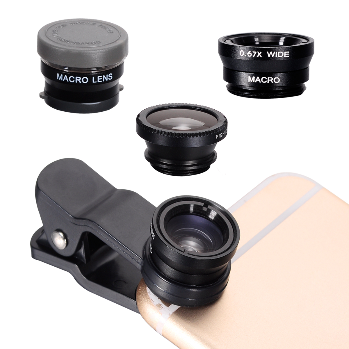 Phone lens (6x HD Macro lens+ Fisheye +Wide Angle) For LG G3 G2 Nexus 4 5 DC576(China (Mainland))