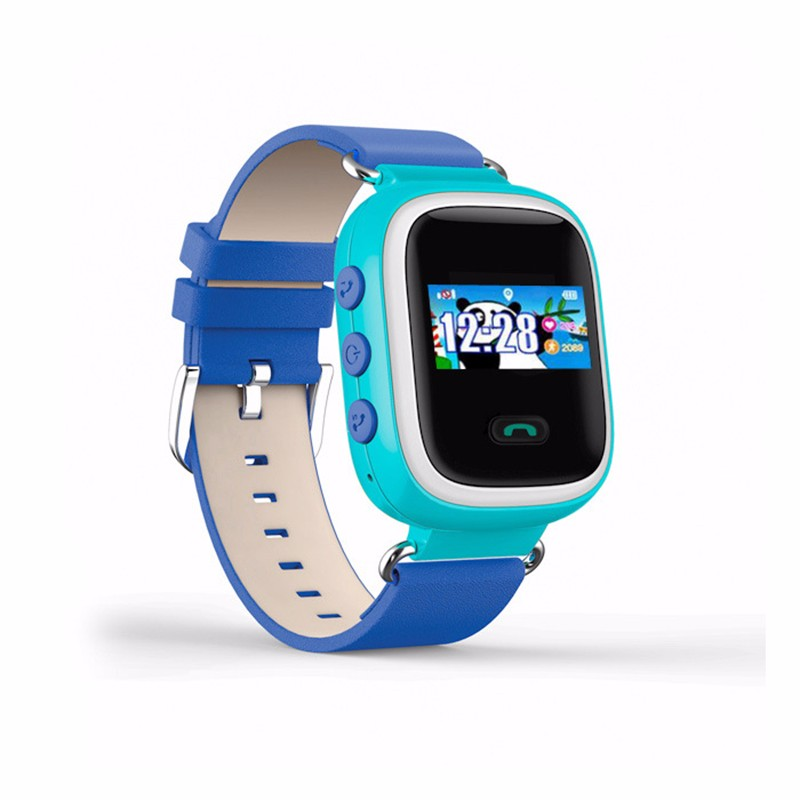 ถูก ที่มีสีสันจีพีเอสQ60 GPS Watch SOS Intel Le Gentฉุกเฉินเด็กสมาร์ทที่ตั้งนาฬิกาโทรเด็กปลอดภัยต่อต้านหายไปตรวจสอบ