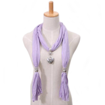 2015 New Arrival!!! Long jewelry scarf with pendant for women multicolors Cotton+metal Free shipping W008